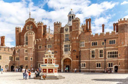 Hampton Court in summer day, UK