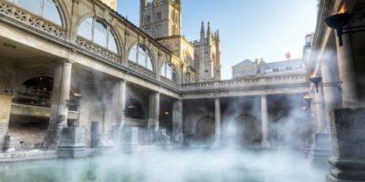 Cidade de Bath Inglaterra um complexo histórico é patrimônio da humanidade